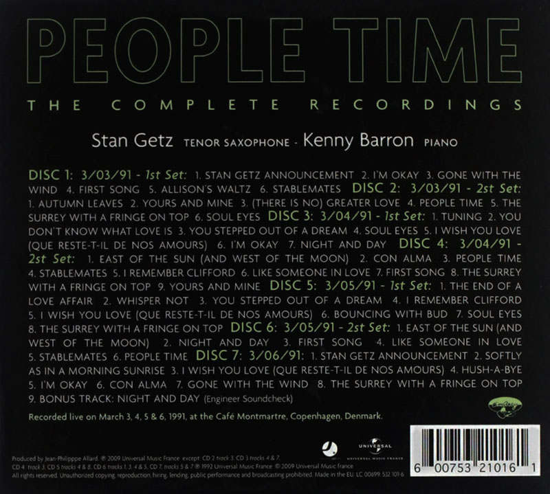 Stan Getz & Kenny Barron - People Time The Complete Recordings (1991, Universal) 2