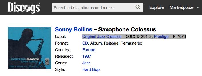 Sonny Rollins - Saxophone Colossus (1956, Prestige) 2