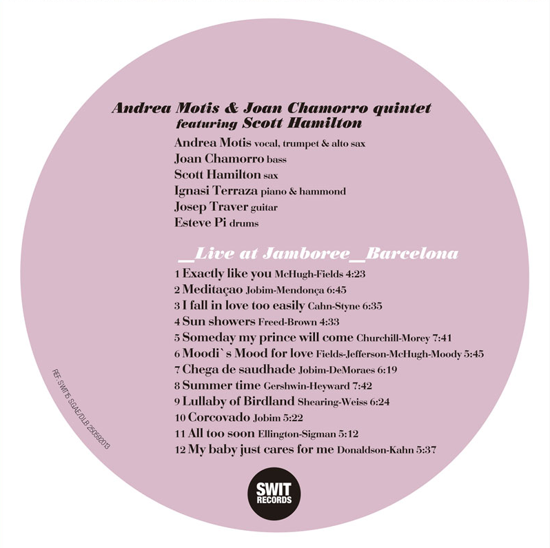Andrea Motis & Joan Chamorro Quintet - Live at Jamboree featuring Scott Hamilton (2013, Swit Records) 4