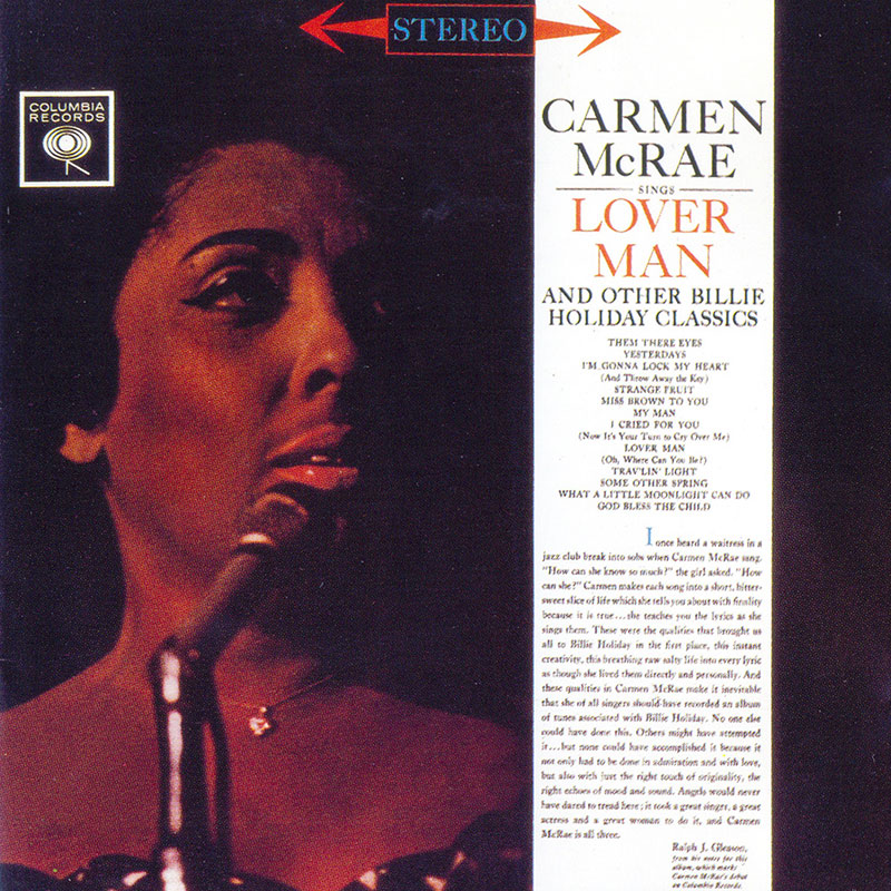 Carmen McRae - Sings Lover Man and other Billie Holiday Classics (1961, Columbia)